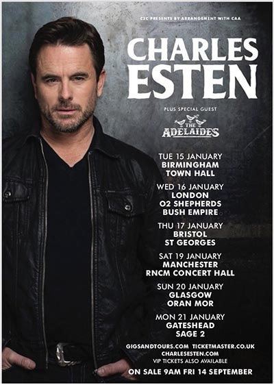 Charles esten tour England, Germany and Netherlands