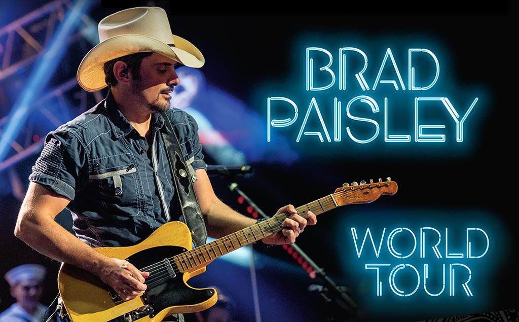 Brad Paisley announced his 9th World Tour