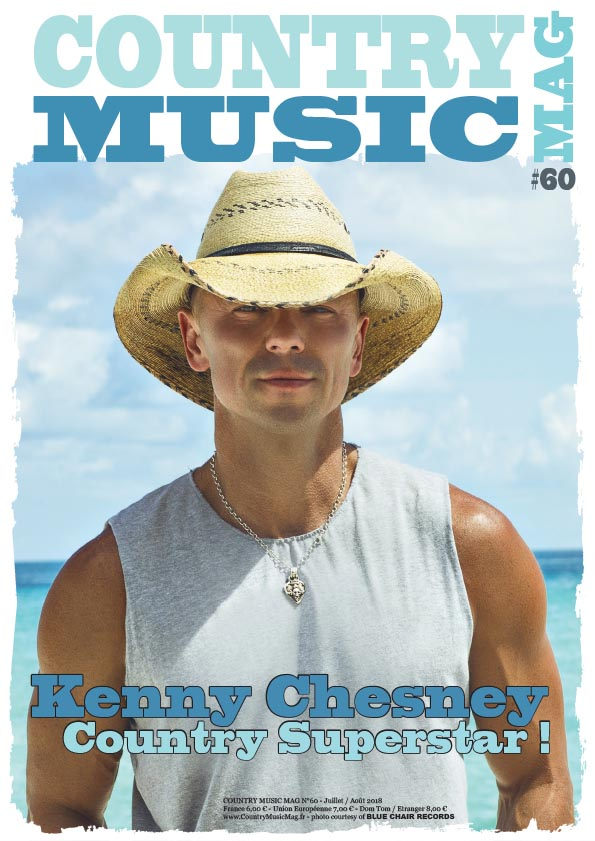 Kenny Chesney on the cover of Country Music Mag, France 6Oth issue